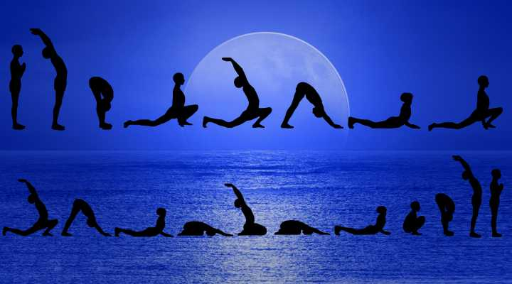 ardha-chandrasana Чандра Намаскар - комплекс упражнений приветствия Луны